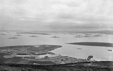 German Fleet surrender in Orkney Islands